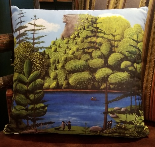 Old Man of the Mountain Pillow