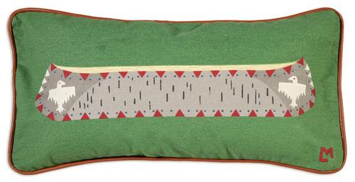 Birch Canoe Pillow - Canvas