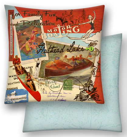 Custom Motor Boating Pillow