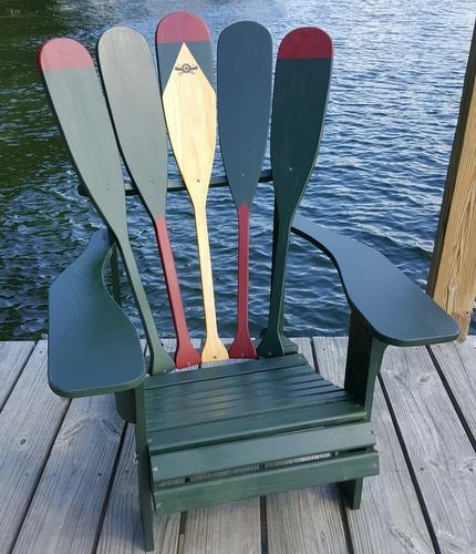 Canoe Paddle Adirondack Chair