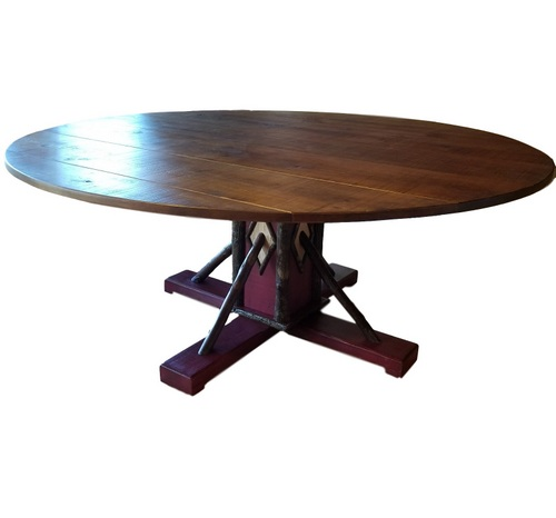 Hickory Pedestal Table
