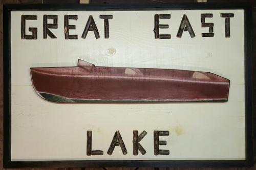 Custom Twig Lettered Boat Sign