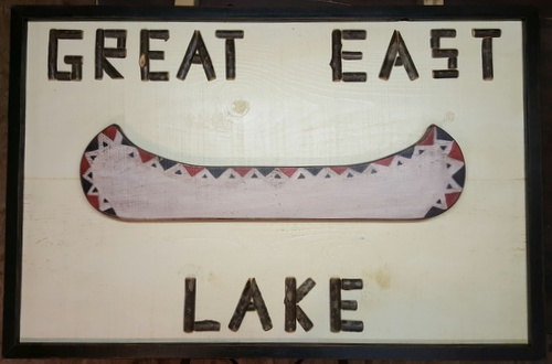 Custom Twig Lettered Canoe Sign