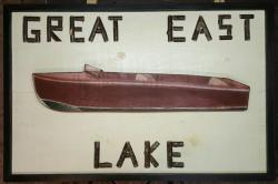 Twig Letter Canoe Sign