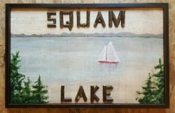 Twig Letter Lake Sign