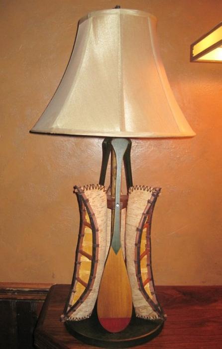 Birch Canoes Lamp