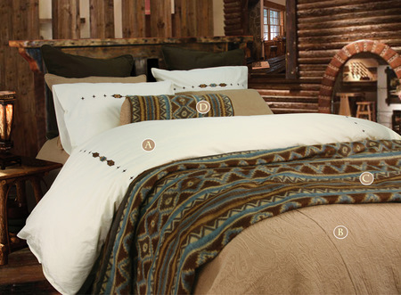 Canyon crest navajo bedding for Crest home designs bedding