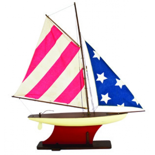 American Flag Pond Yacht
