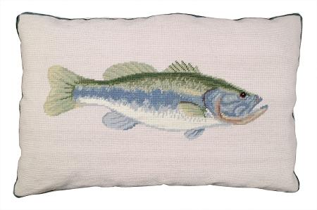 Needlepoint Bass Pillow