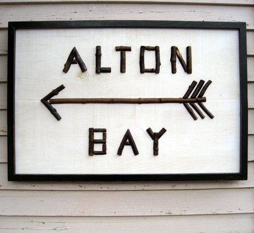 Custom Indoor / Outdoor Twig Sign with Arrow