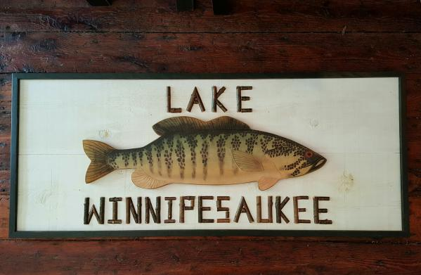 Large Custom Twig and Bass Sign