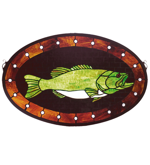 Bass Stained Glass Window