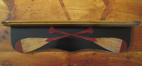 Canoe Paddles Shelf