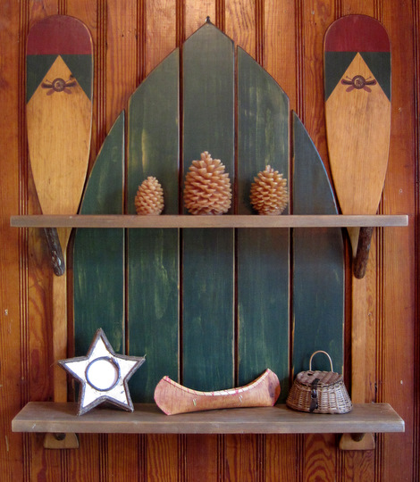 Boat Paddles Shelf