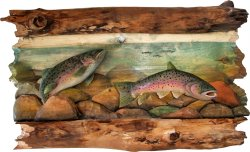 Trout Carving Wall Hanging